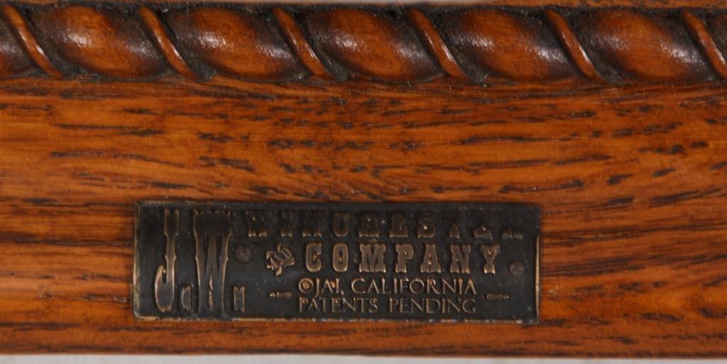 10: J.W. Winchester Oak Display Case - 3