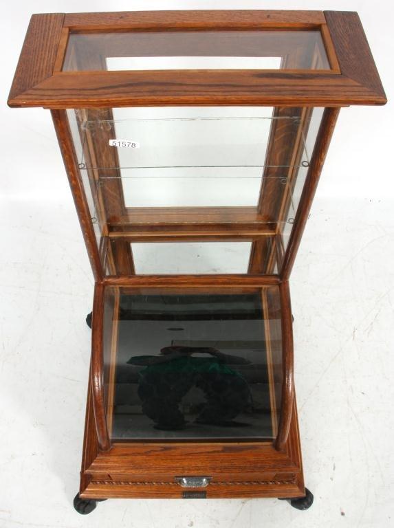 10: J.W. Winchester Oak Display Case - 7