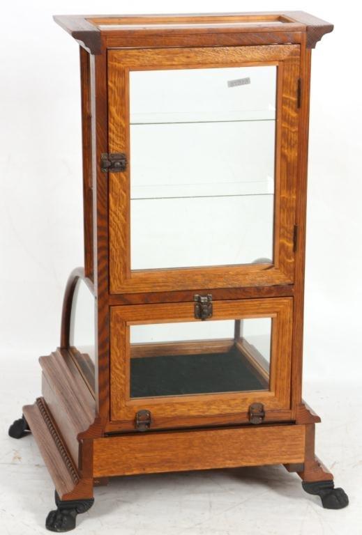 10: J.W. Winchester Oak Display Case - 8