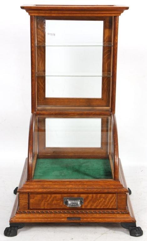 10: J.W. Winchester Oak Display Case - 9