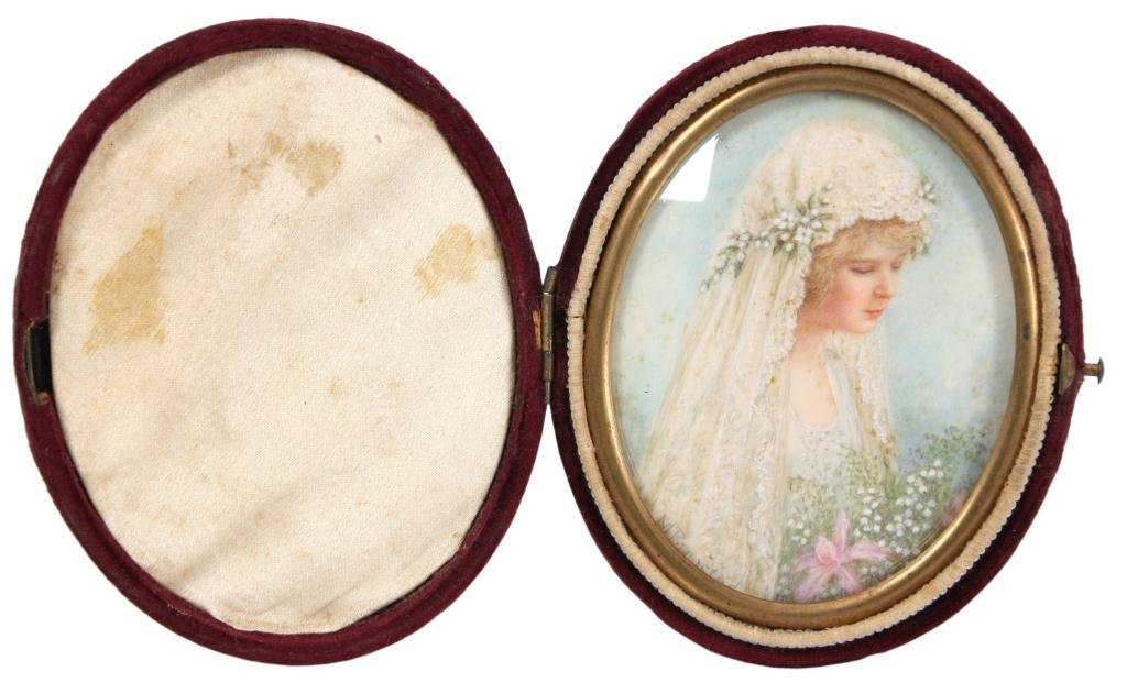21: Oval Portrait Painting on Ivory