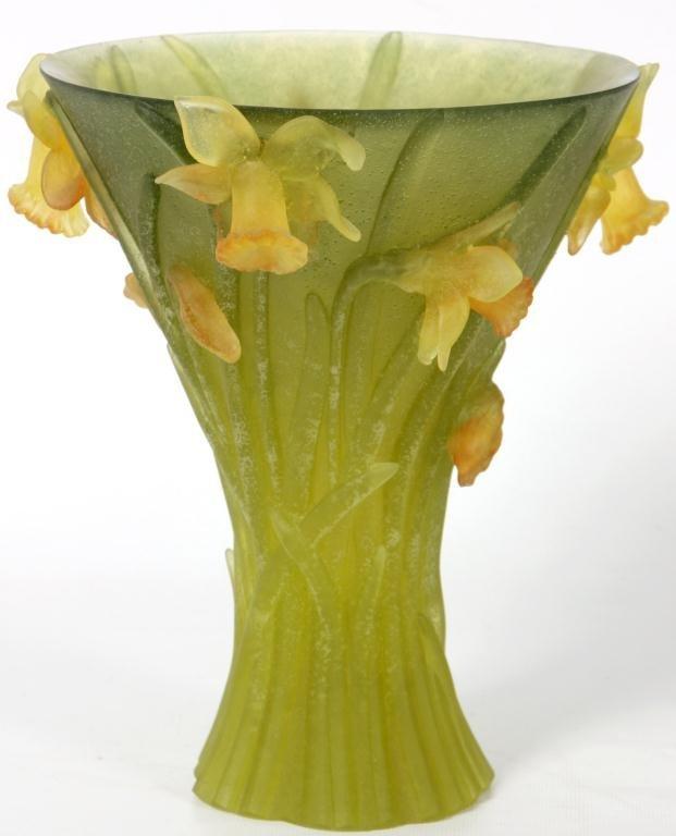 80: Daum Pate-de-Verre Vase - 8