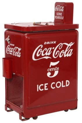 5 Cent Coca Cola Spin Top Cooler