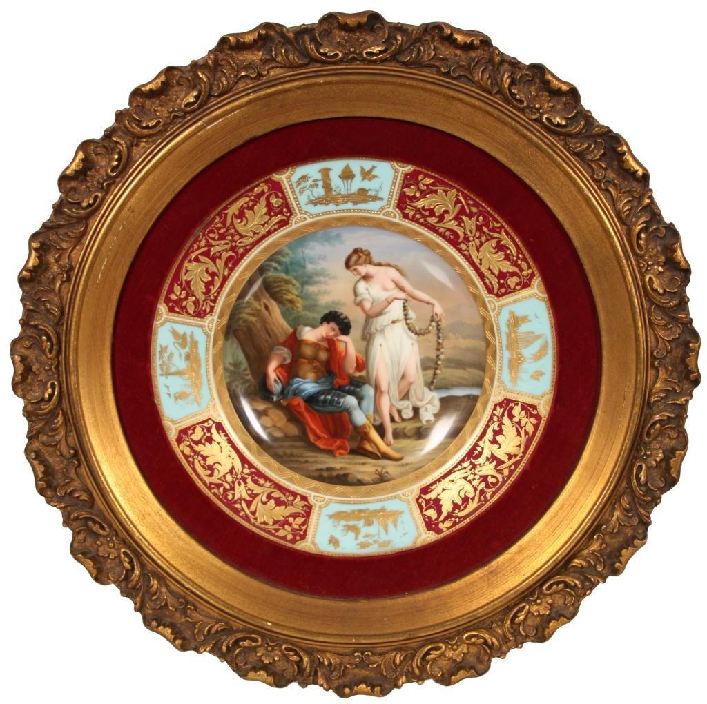 237: Royal Vienna Plate Rinaldo & Armida