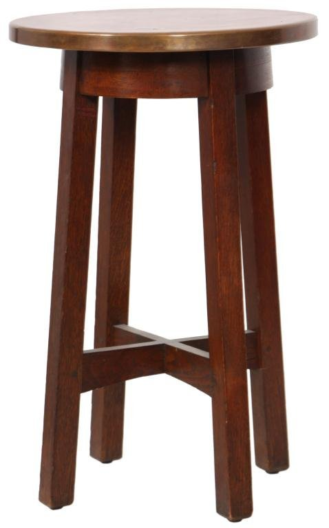 239: L & JG Stickley Copper Top Drink Stand