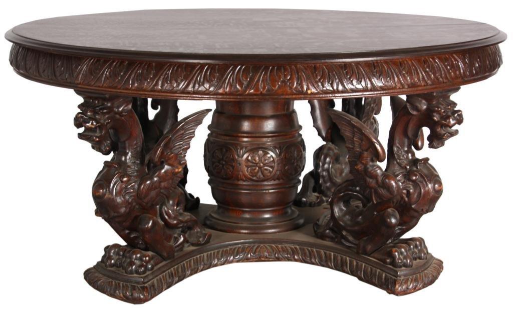 263: R.J. Horner Oak Griffin Dining Table