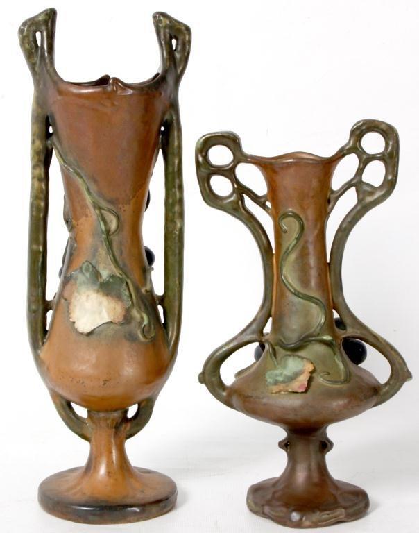 325: 2 Amphora Vases W/ Grapes - 4