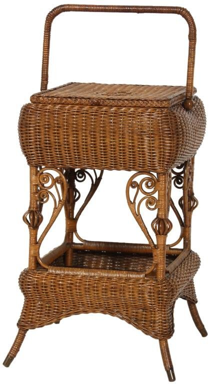 327: Heywood Bros. Wicker Sewing Stand
