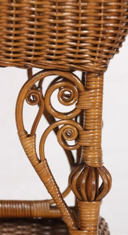 327: Heywood Bros. Wicker Sewing Stand - 5