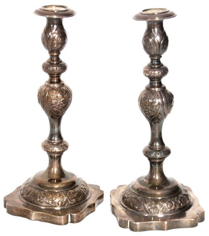 443: Pr. Russian Silver Candlesticks