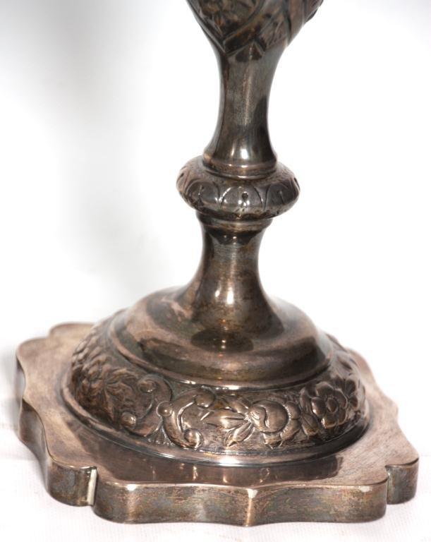 443: Pr. Russian Silver Candlesticks - 2