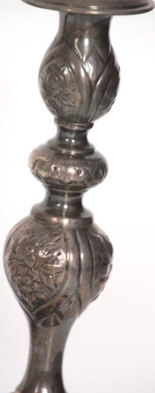 443: Pr. Russian Silver Candlesticks - 3