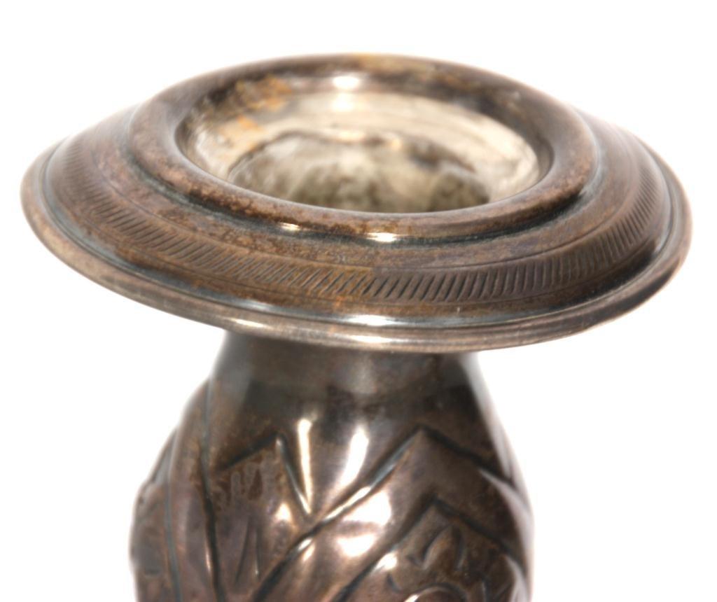 443: Pr. Russian Silver Candlesticks - 4