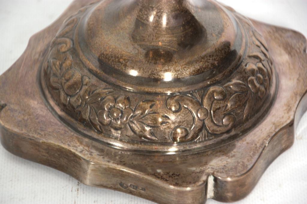 443: Pr. Russian Silver Candlesticks - 5