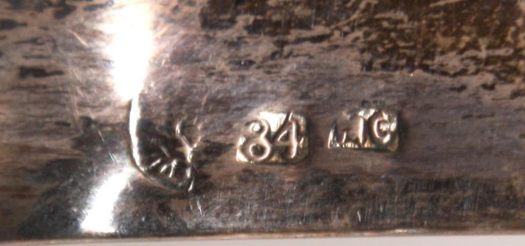 443: Pr. Russian Silver Candlesticks - 8