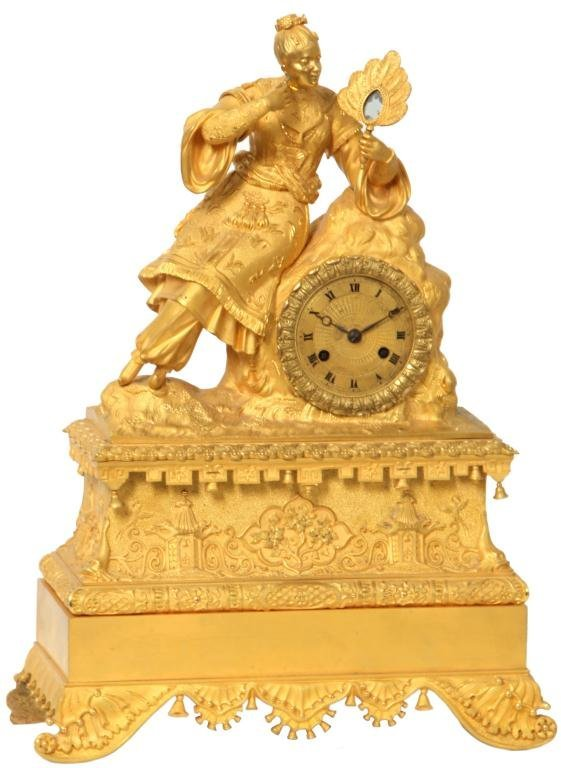 3: French Silk Thread Mantle Clock