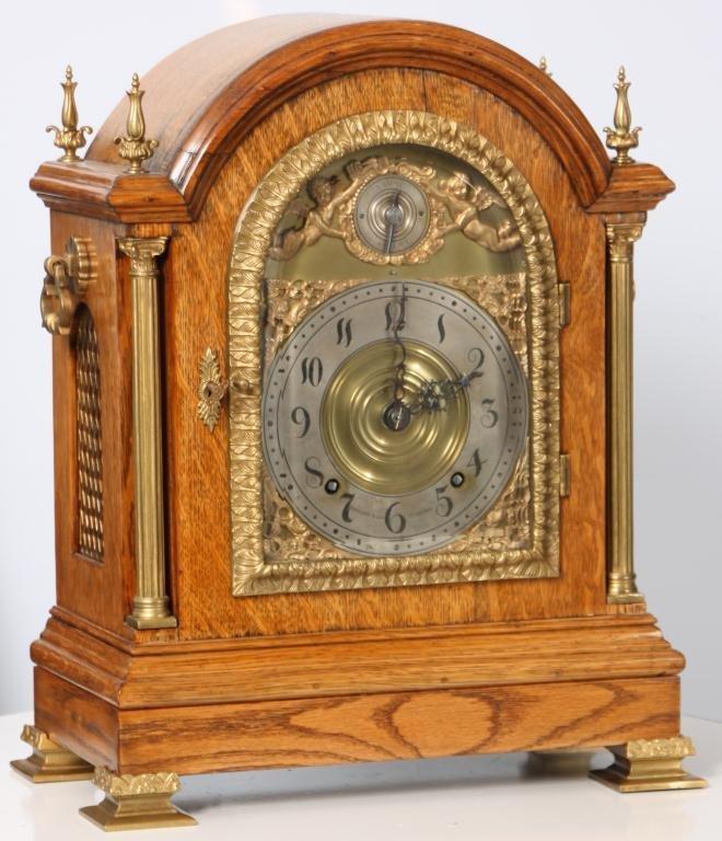 5: Oak Tiffany & Co. Makers Bracket Clock