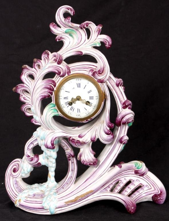 16: Rare Galle Nancy Faience Clock