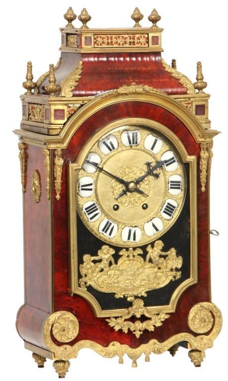 18: French Brass & Tortoise Shell Clock