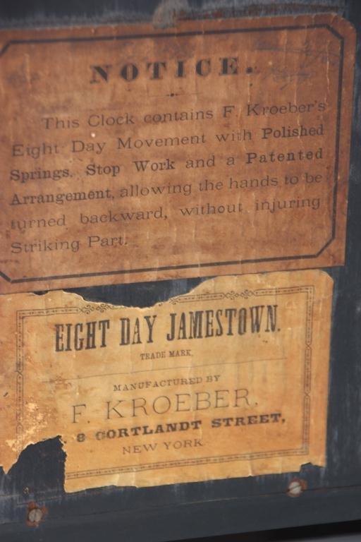 21: Kroeber Jamestown Mantle Clock - 8