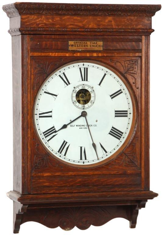 24: Oak Self Winding No. 10 Clock