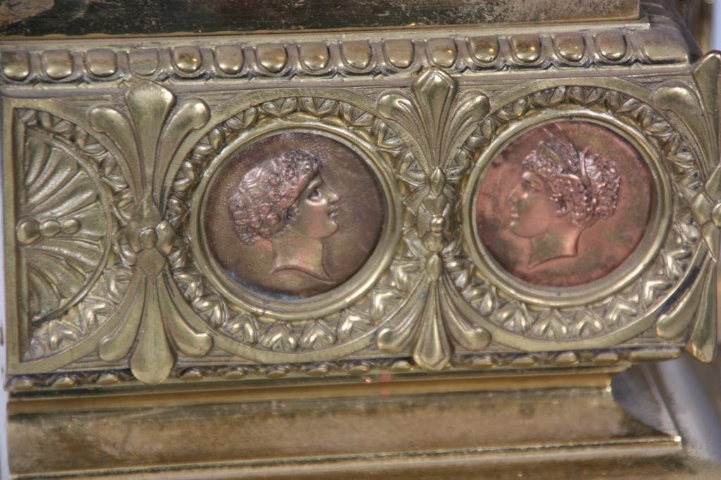 29: French Figural Bronze Mantle Clock - 4