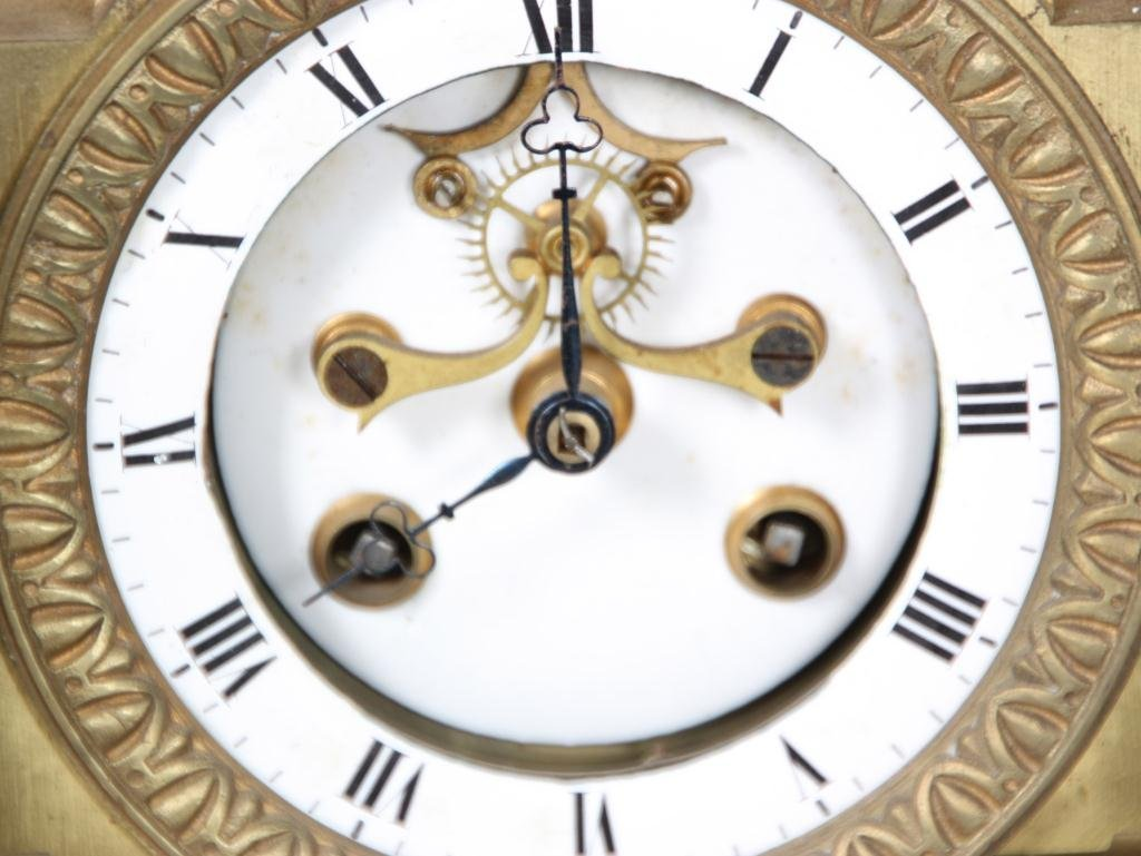 29: French Figural Bronze Mantle Clock - 5