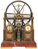 32: French Industrial Steam Engine Clock