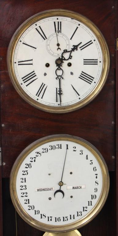 35 Waterbury No 25 Calendar Wall Clock Lot 35