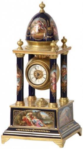 Royal Vienna Porcelain Mantle Clock