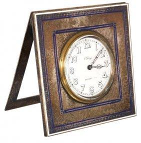 Tiffany Sterling & Enamel Clock
