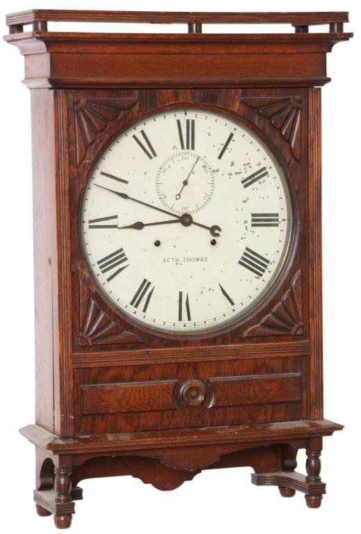 159: Seth Thomas 14 in. Lobby Clock