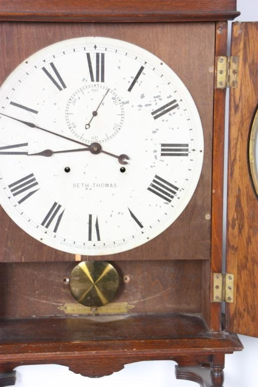 159: Seth Thomas 14 in. Lobby Clock - 4