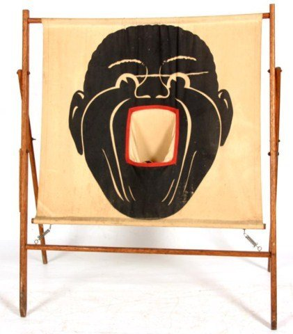 Black Face Canvas Carnival Game