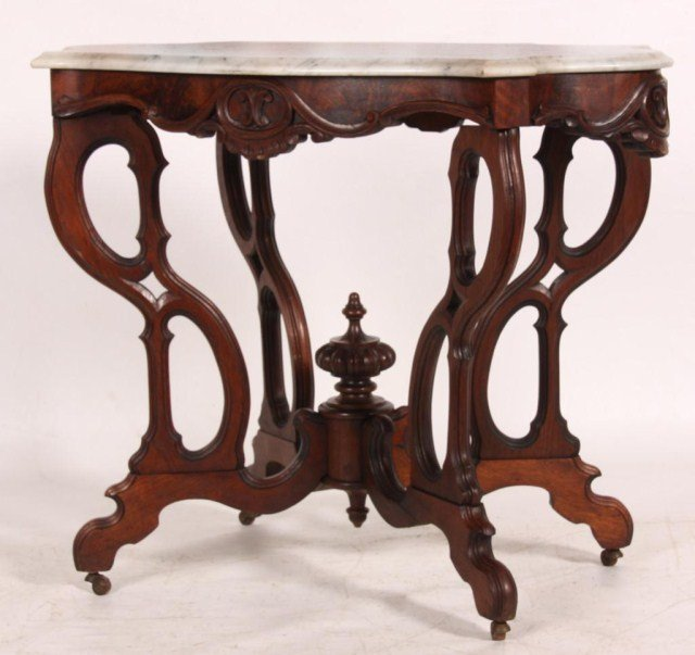 Turtle Top Marble Top Table
