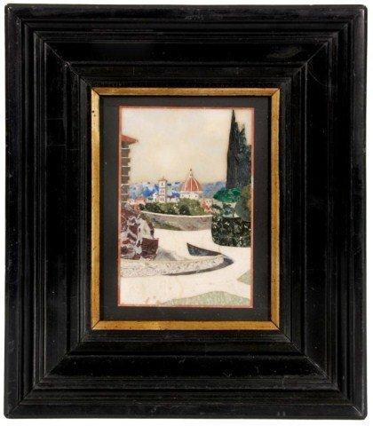 6: Pietra Dura Scenic Plaque