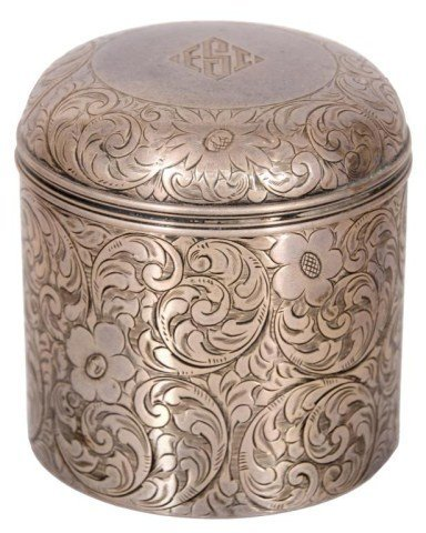 7: Tiffany & Co. Sterling Tea Canister
