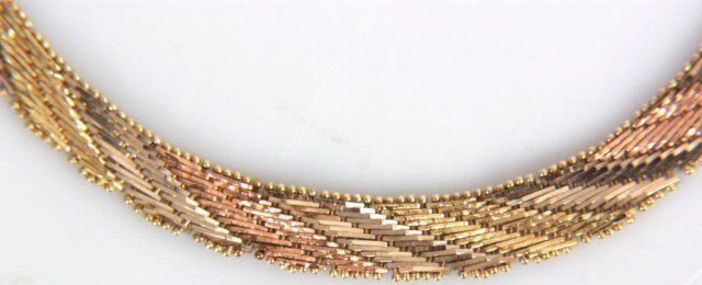 14: 14k 3 Tone Gold Necklace