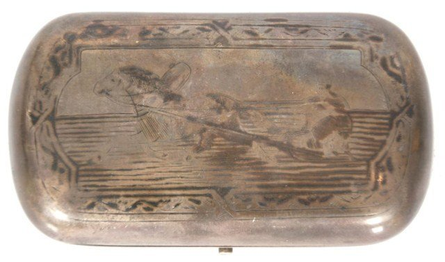 15: Russian Silver Engraved Box