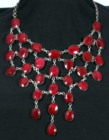 24: Approx. 150 Carat Raw Ruby Necklace