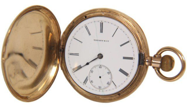 211: Tiffany & Co. 18K Gold Pocket Watch