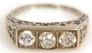 217 Fancy 18K Gold  Diamond Ring