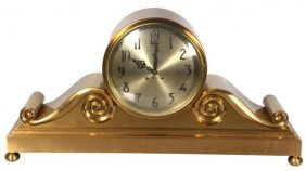 Tiffany Chelsea Mantle Tambour Clock