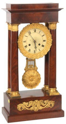 French Empire Portico Clock