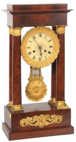 4: French Empire Portico Clock