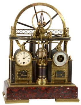 8: French Industrial Steam Clock