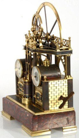 8: French Industrial Steam Clock - 4