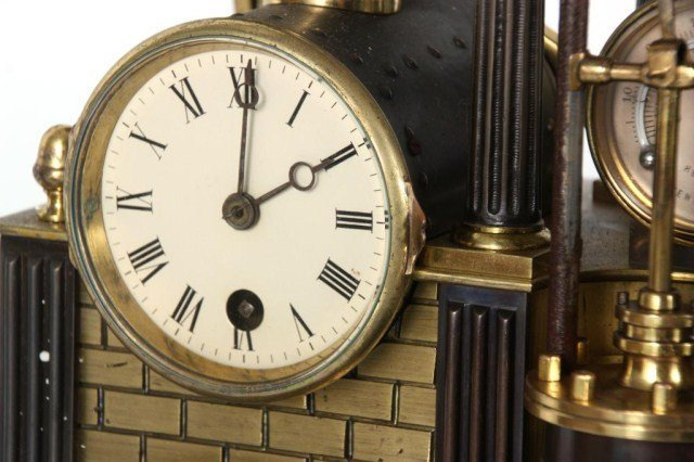 8: French Industrial Steam Clock - 7