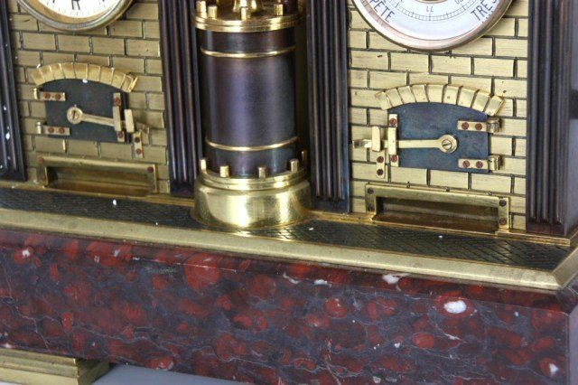8: French Industrial Steam Clock - 8