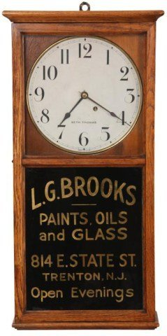 Seth Thomas Office No. 6 Advertising Clock